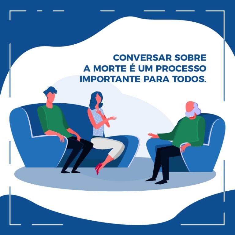 conversar sobre a morte